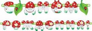 гирлянда с ДР грибы