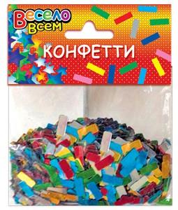конфети прямоугольники микс