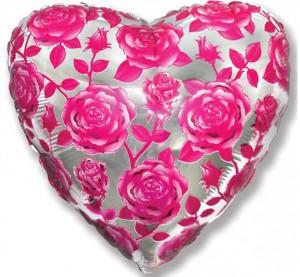 18 сердце розы