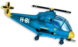 38'' вертолет синий