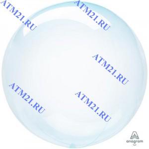 18/45 Кристалл Blue BUBBLE воздушный шар 1шт