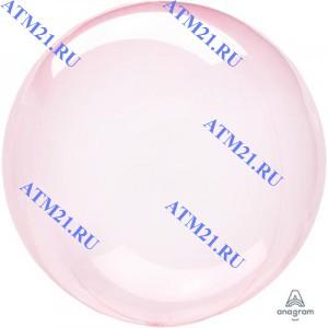 18/45  Кристалл Dark Pink  BUBBLE Пузырь воздушный шар 1шт