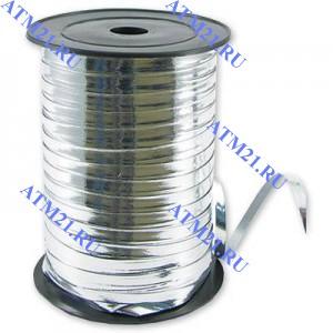 Лента металлизир 5ммХ230м серебрянная