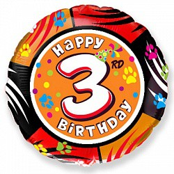18'' круг happy birthday 3 года