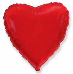 18 сердце красное фл