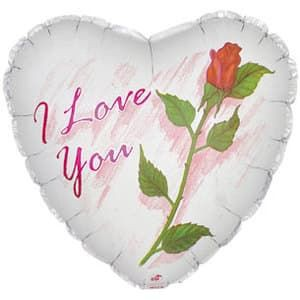 18 сердце  роза i love you