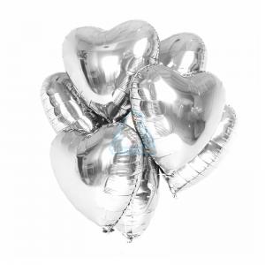 18''сердце серебро