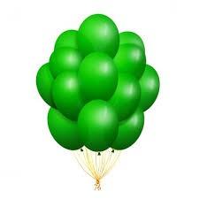 10/25см Зеленый green 12 пастель воздушный шар 1шт