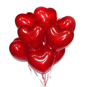 10''/25см сердце кристалл красное шт.