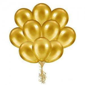 12/30см Gold №39 золото металлик воздушный шар 1шт