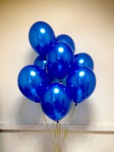 10/25см Blue №36 синий металлик воздушный шар 1шт