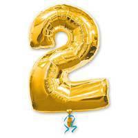 цифра 2 gold