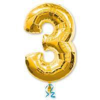 цифра 3 gold
