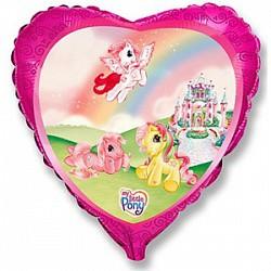 сердце 18'' пони