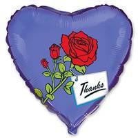 18'' сердце роза на синем 201566