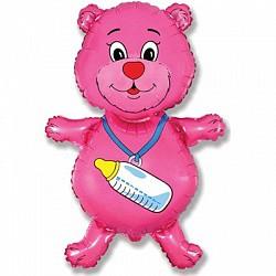 мишка с соской розовый(===E)