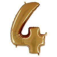 цифра 4 золото грабо