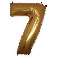 цифра 7 золото грабо