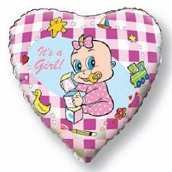 18''сердце младенец девочка