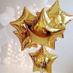 18'' звезда яркое золото