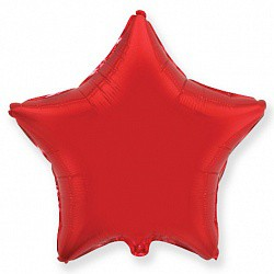 шар звезда красный 18