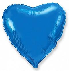 18 шар сердце синий