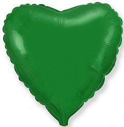 18'' сердце зеленое флекс