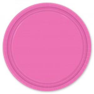 тарелка розовая 8 шт 17см