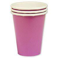 стакан розовый уп 8шт