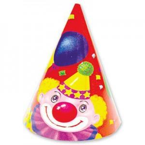 колпак клоун с шарами 1шт