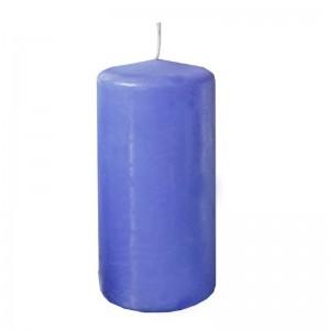 свеча пеньковая 60х125 голубая