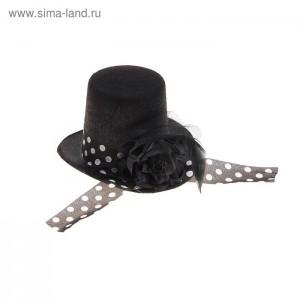 шляпа цилиндр лента горох