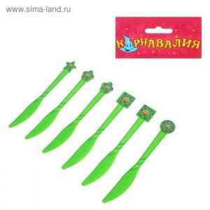 ножи зеленые 6шт