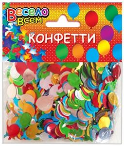 конфети шарики микс