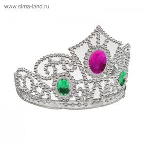 корона принцесса с рубином