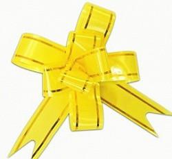 бант бабочка 3см желтый