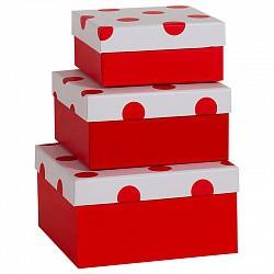 красный горох №3-3 коробка подарочная размер 12.5х12.5х5.5