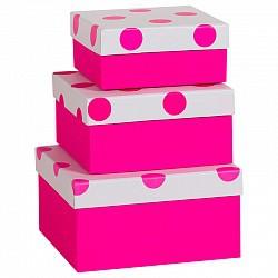 розоый горох №2-3 коробка подарочная фуше размер 14.5*14.5*7