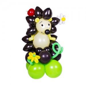 фигура ёжик из воздушных шаров