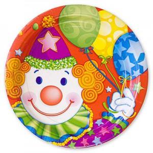 тарелка клоун 23см 8штА