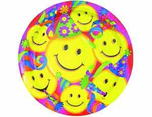 тарелка улыбки 17см8штА