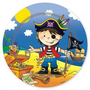 тарелка маленький пират 23см 6шт
