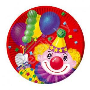 АКЦИЯ !!! тарелки клоун с шарами набор 6шт