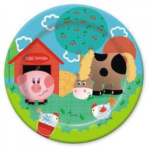 тарелка забавная ферма 17см 6шт